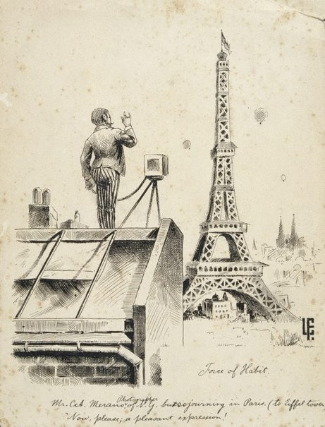 An image of Force of Habit (Eiffel Tower) by Lyonel Feininger