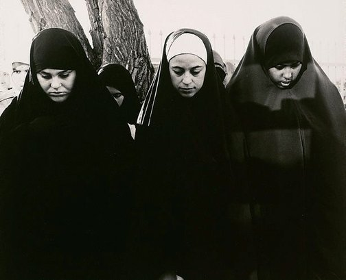 An image of Three girls praying at the Preston Mosque (Lebanese Sunni) by Viva Jillian Gibb