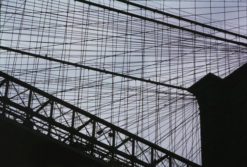 An image of Brooklyn Bridge Cables, New York by David Moore