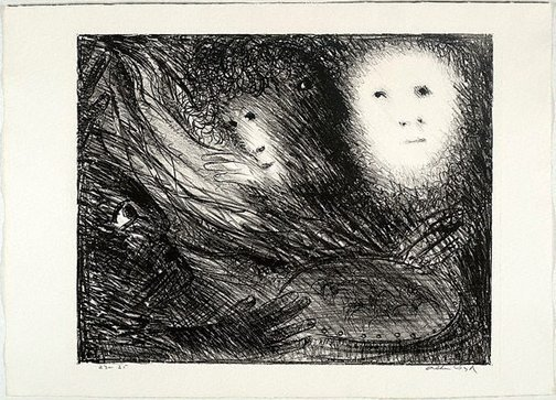 An image of St Francis and St Clare eat together by Arthur Boyd
