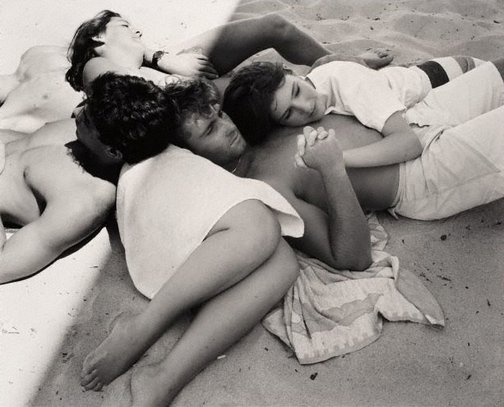 An image of Manly Beach, Sydney, Australia, January 1985 by Fiona Hall