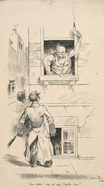 "An image of ""An weh! nu is 'die Spitze hin!"" by Lyonel Feininger"