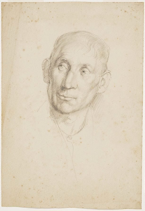 An image of Head study, London
