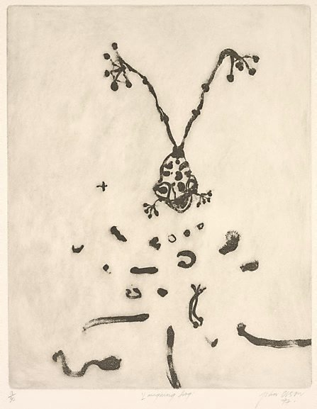 An image of Laughing frog by John Olsen