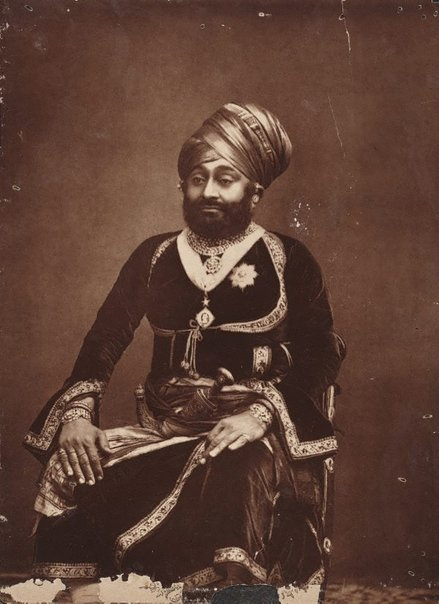 An image of H.H. Man Singh, Raja of Dhrangadhra by Bourne and Shepherd