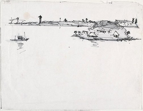 An image of Drawing for 'Northwood Point, Lane Cove River' by Lloyd Rees