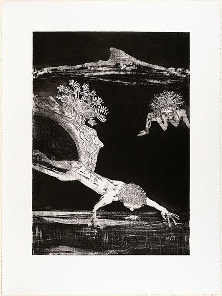 An image of (Illustration for Peter Porter's poem 'From the autobiography of Narcissus') by Arthur Boyd