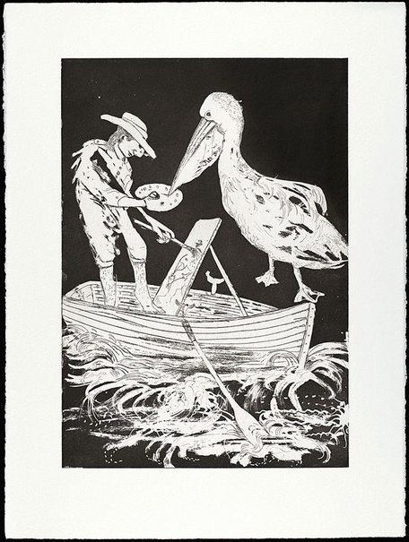 An image of (Illustration B for Peter Porter's poem 'From the autobiography of Narcissus') by Arthur Boyd