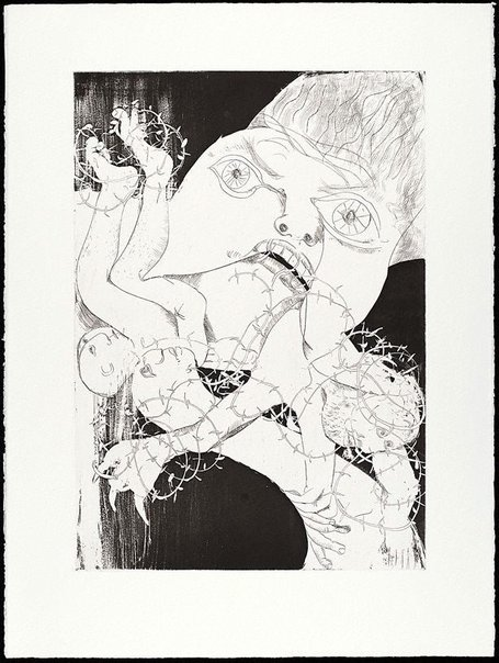 An image of (Illustration for Peter Porter's poem 'Intermezzo') by Arthur Boyd