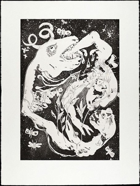 An image of (Illustration to Peter Porter's poem 'Introduction') by Arthur Boyd