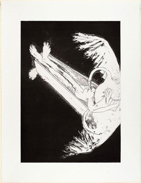 An image of (Illustration for Peter Porter's poem 'The burial of Narcissus') by Arthur Boyd