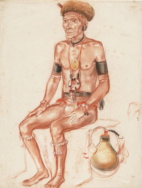 An image of King Mitakata, New Guinea by Nora Heysen