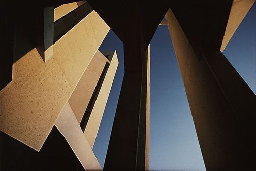 An image of Australian National Gallery, sunset, Canberra by David Moore