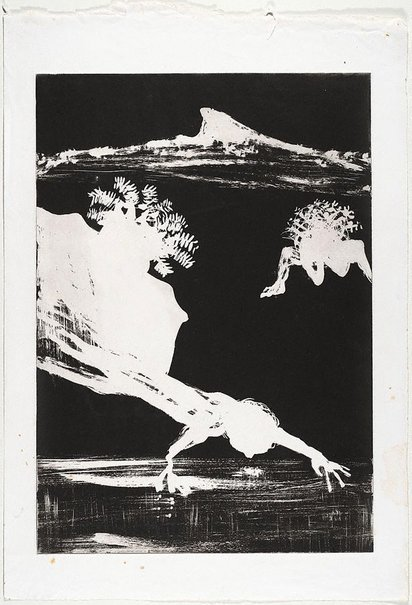 An image of (Illustration (a) for Peter Porter's poem 'From the autobiography of Narcissus') by Arthur Boyd