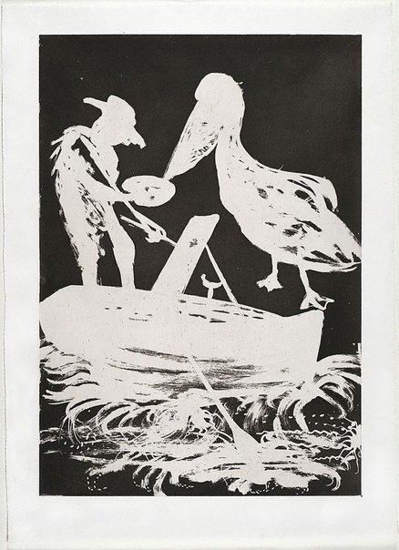 An image of (Illustration (b) for Peter Porter's poem 'From the autobiography of Narcissus') by Arthur Boyd