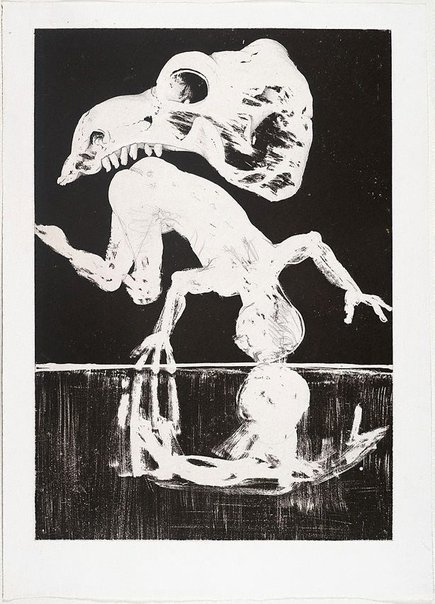 An image of (Illustration (b) for Peter Porter's poem 'The painters' banquet') by Arthur Boyd