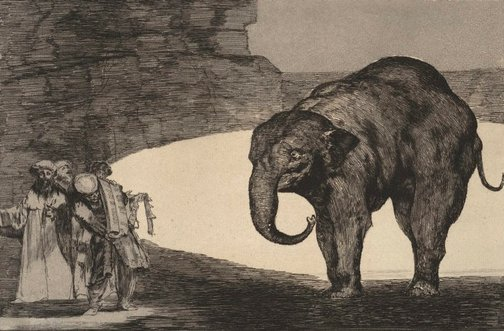 An image of Animal folly (Disparate de bestia) by Francisco de Goya Y Lucientes