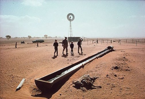 An image of Drought Cairo Station, western New South Wales by David Moore