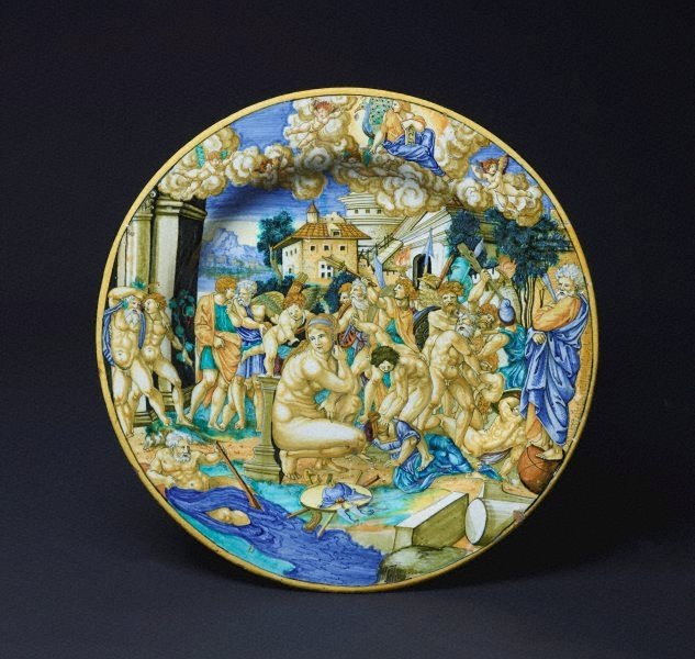 An image of Large plate: An allegory on the sack of Rome