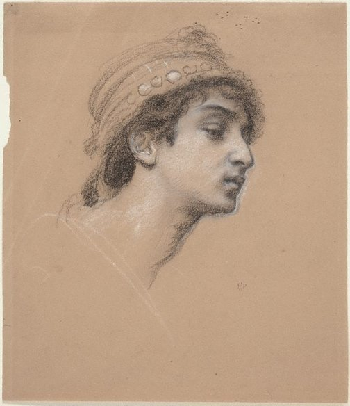 An image of Study for the head of the Queen of Sheba by Sir Edward John Poynter