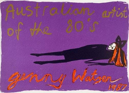 An image of Australian artist of the 80s by Jenny Watson