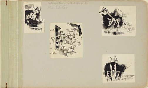 An image of Submitting sketches to the editor by Lyonel Feininger