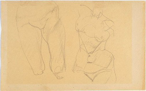 An image of Study of female thighs, torso by Eric Wilson