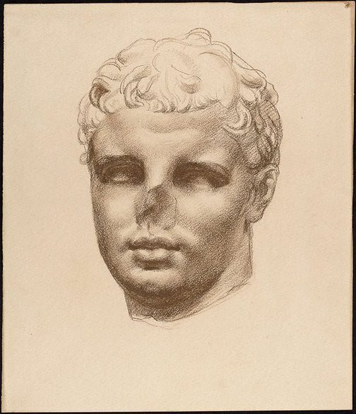 An image of Study of Roman bust by Nora Heysen