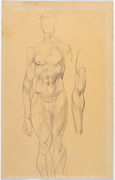 An image of Study of male nude, arm by Eric Wilson