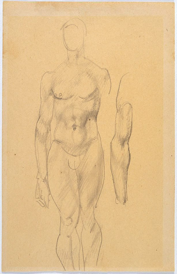 An image of Study of male nude, arm