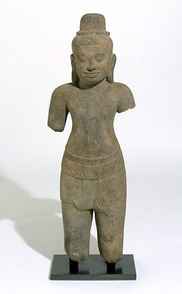 An image of Figure of a deified male by