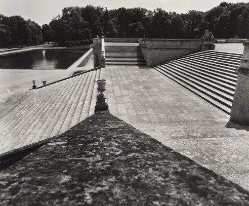 An image of Untitled (staircase to the park, looking toward Bassin des Serruriers, Domaine de Chantilly) by Max Dupain