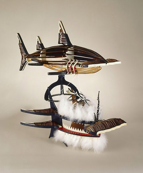 An image of Beizam (shark) dance mask by Ken Thaiday