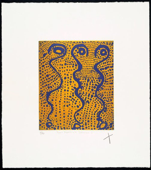 An image of Ngapa Jukurrpa I by Shorty Jangala Robertson