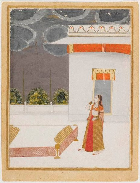 An image of Portrait of woman on terrace by
