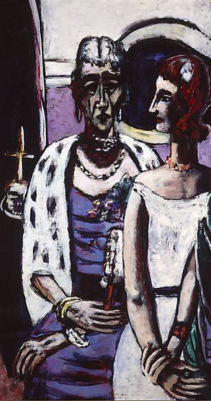 An image of Mother and daughter by Max Beckmann