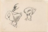 Alternate image of recto: (Studies of swans and a duck) verso: (Further studies of a swan) by Lionel Lindsay