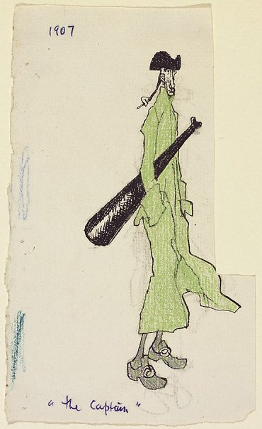 An image of The captain by Lyonel Feininger