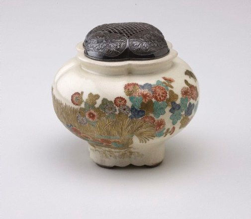 An image of Incense burner by Meiji export crafts, Satsuma ware