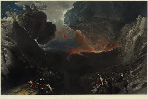 An image of The great day of his wrath by Charles Mottram, after John Martin