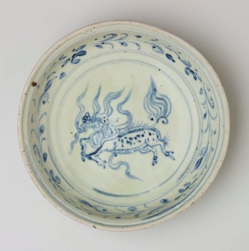 An image of Dish with 'qilin' motif by