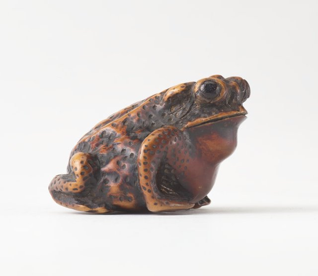 An image of Netsuke in the form of a toad