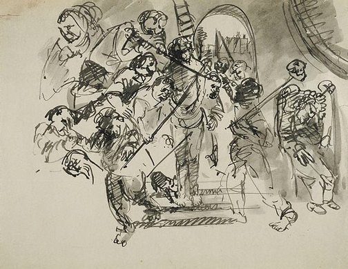 An image of (The flagellation) by Arthur Boyd