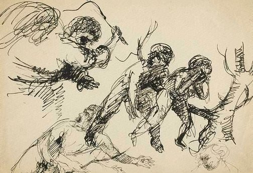 An image of (The expulsion) by Arthur Boyd