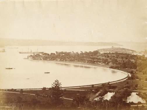 An image of Untitled (Harbour from Garden Island) by Charles Bayliss