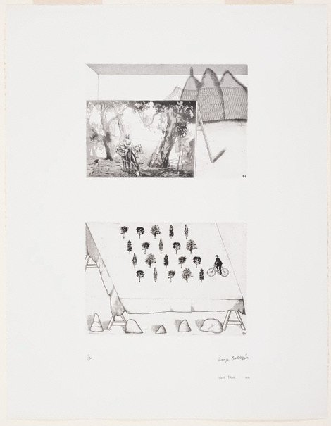 An image of According to des Esseintes by Imants Tillers, George Baldessin