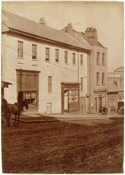 An image of Untitled (view of Market street, towards Sussex street, Sydney) by Unknown