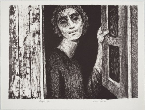 An image of Woman at window by Noel Counihan