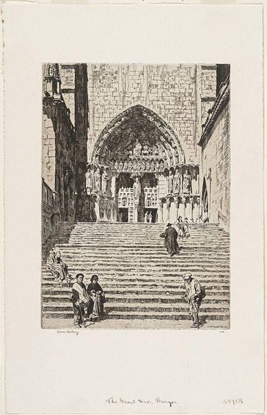 An image of The great door, Burgos by Lionel Lindsay
