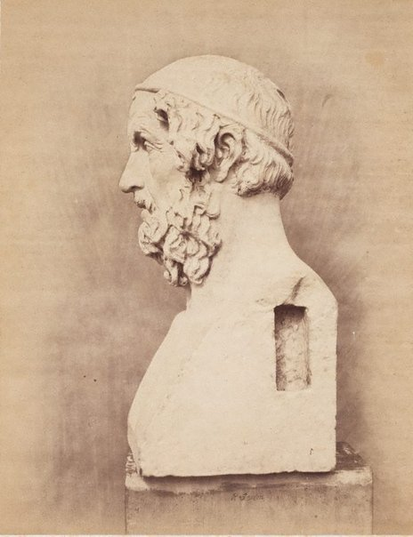 An image of Bust of Homer, side view by Roger Fenton
